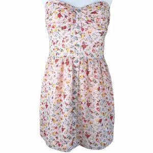 BCBGeneration Flower Strapless Dress